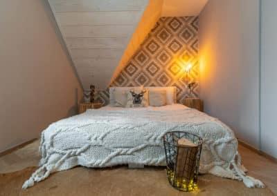 sypialnia w domku Silverton